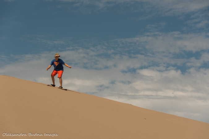 sandboarding at Great Sand Dunes National Park