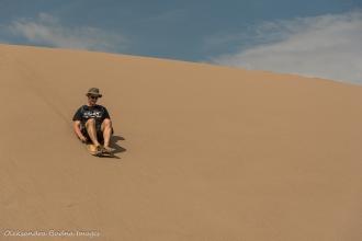 sandsledding at Great Sand Dunes National Park in Colorado