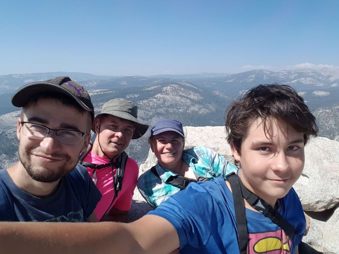 selfie at the top of Half Dome