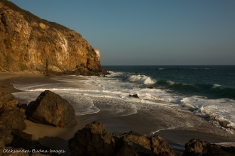Point Dume beach in California