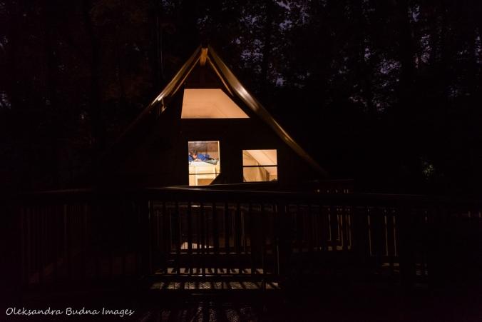 oTENTik in Point Pelee at night