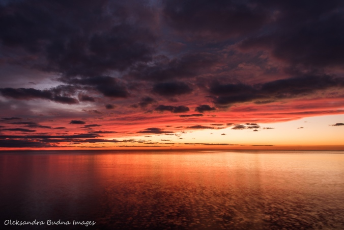 sunset over Lake Erie in Point Pelee National Park