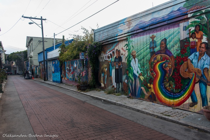 murals in Mission District in San Francisco