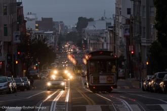 street in San Francisco at night