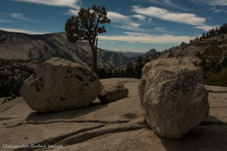 view from Olmsted point on Tioga road in Yosemite