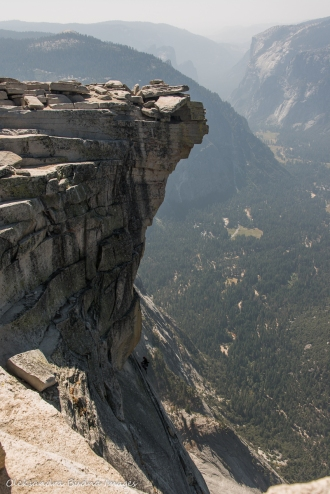 view from Half Dome at Yosemite