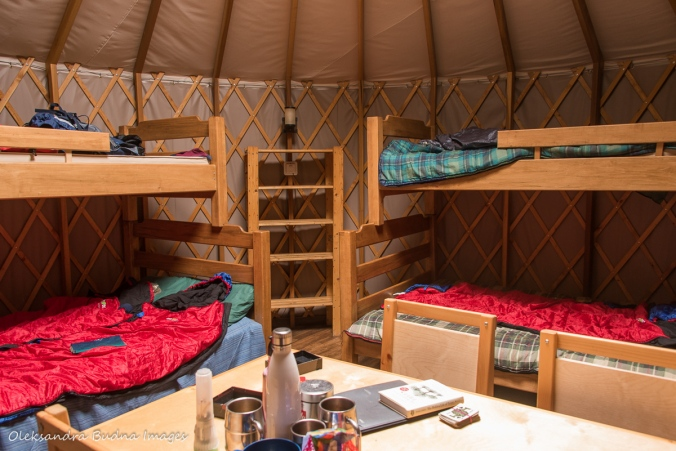 inside a new yurt # 46 at MacGregor Point