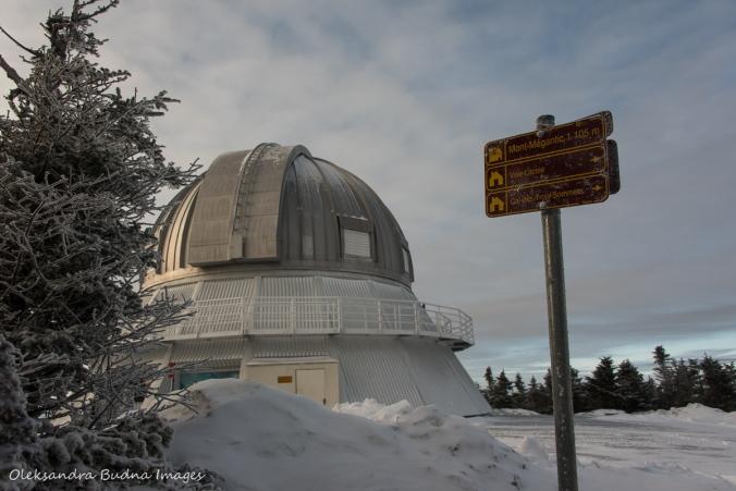 Mont-Mégantic Observatory at Parc naitonal du Mont-Mégantic in Quebec