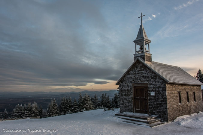 church on top of Saint Joseph Mont at Parc national du Mont-Mégantic