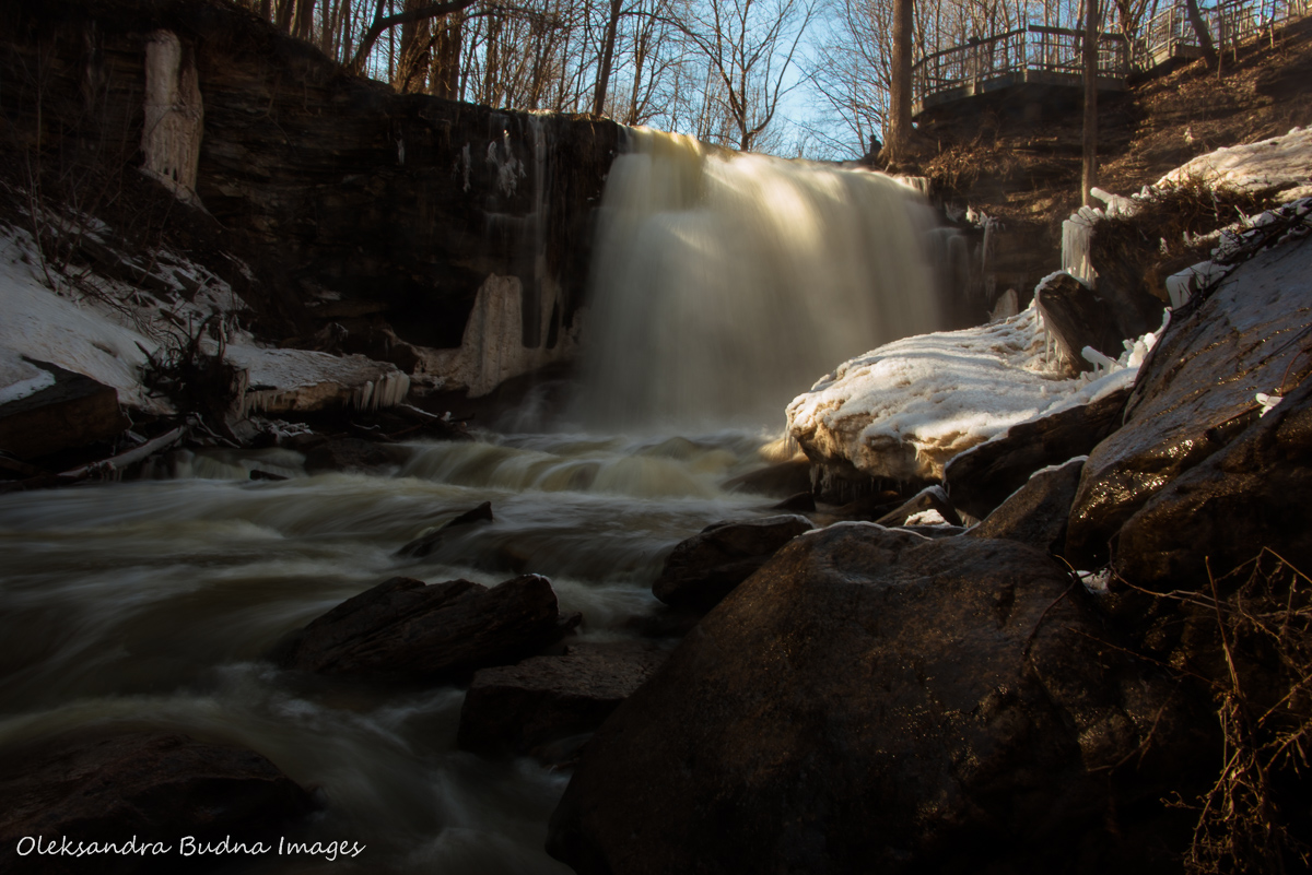 Smokey Hollow waterfall near Hamilton