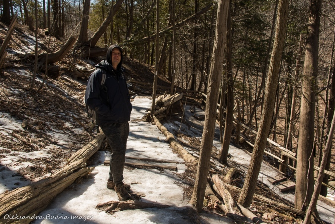 hiking Bruce Trail near Smokey Hollow |waterfall