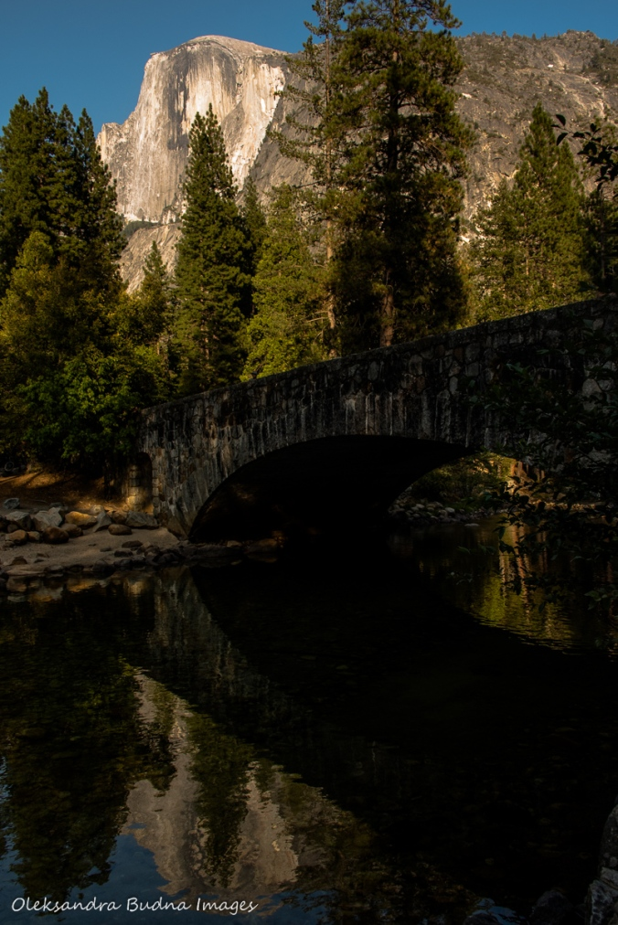 Half Dome reflected in Merced river