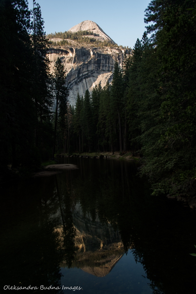 Royal Arches in Yosemite reflected in the river
