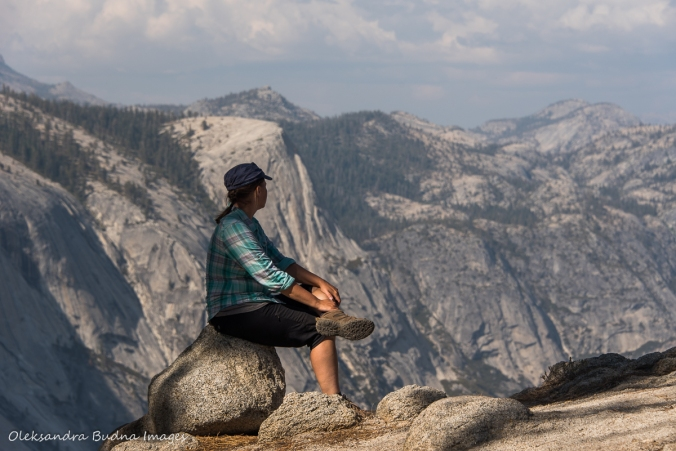 enjoying the view along the Half dome trail