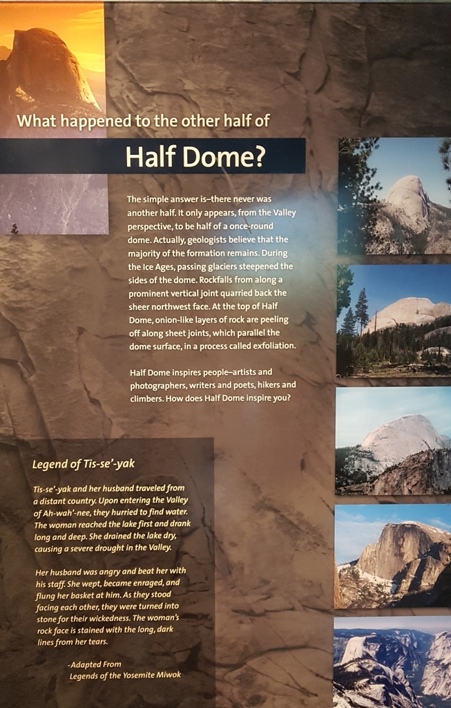 information panel about Half Dome at Yosemite