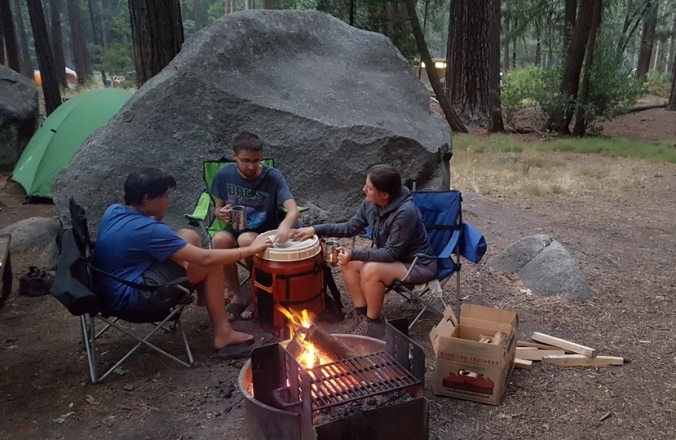 playing card games at site 179 in Yosemite national park