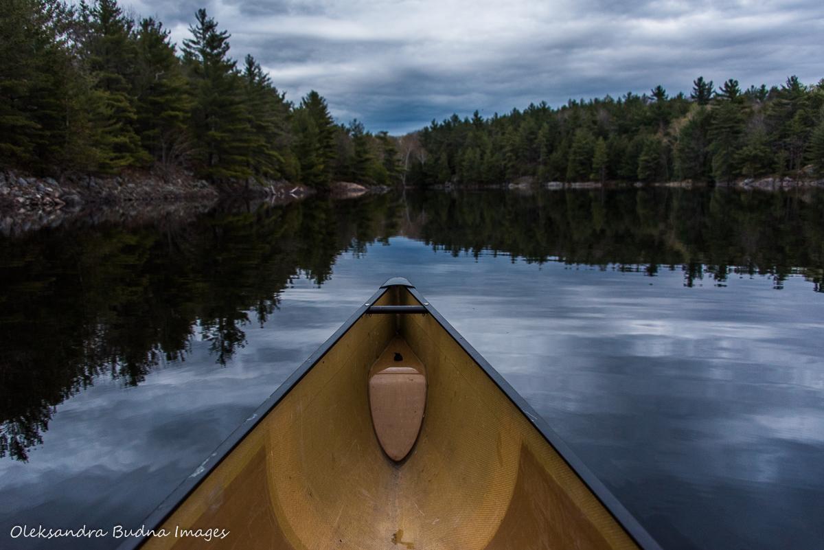 canoeing at the Massasauga provincial park