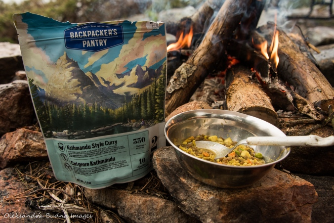 Kathmandu style curry from Packpacker's Pantry near the campfire