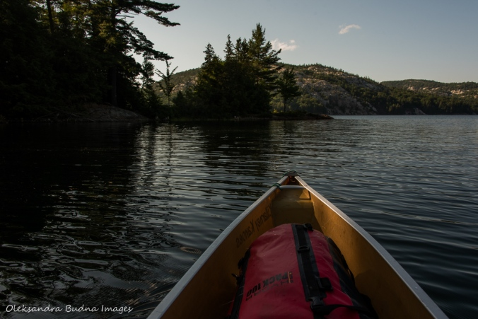 canoeing on Killarney Lake