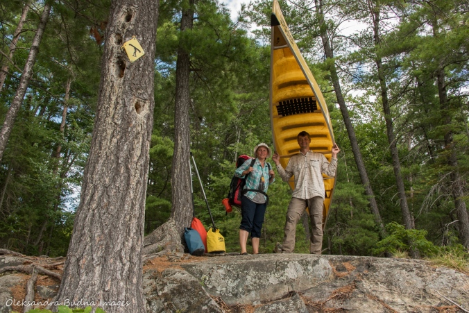 portage from Helen to Nellie Lake