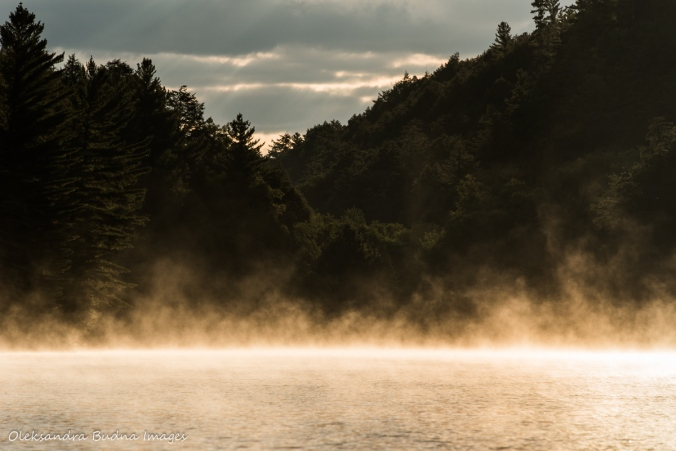 morning mist on Nellie Lake in Killarney