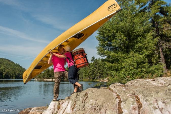 kissing under a canoe