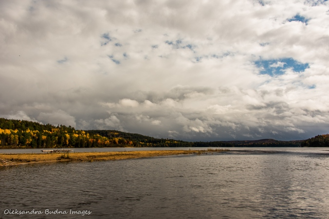 Rock Lake in Algonquin in the fall