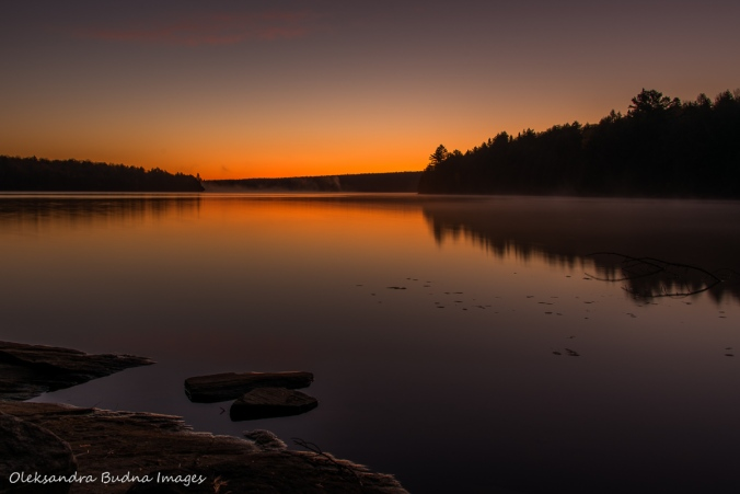 sunrise over Lake Louisa in Algonquin