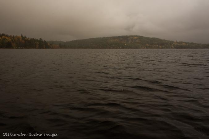Rock Lake in the fall