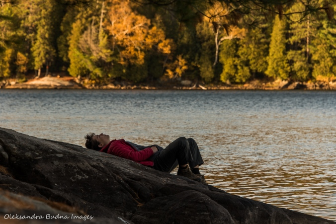 enjoying peace and quiet on Lake Louisa in Algonquin