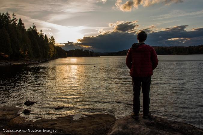 watching sunset on Lake Louisa