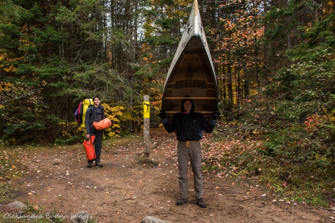 prepared for portage from Rock Lake to Louisa Lake