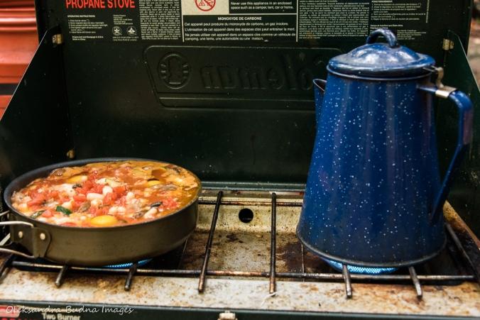 breakfast on the stove