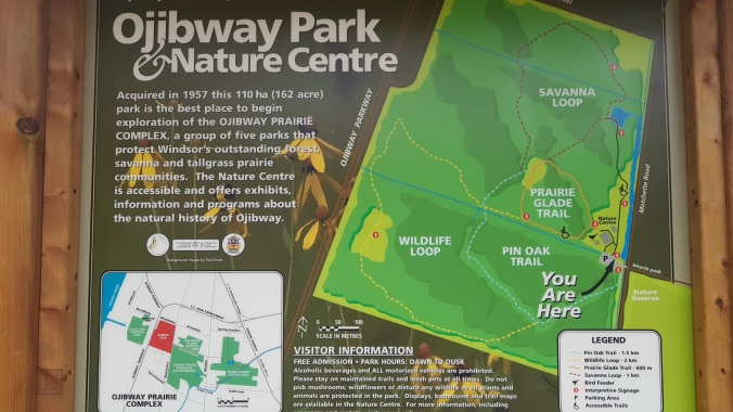 Ojibway Park Nature Centre map