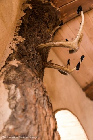 coat hanger in the Hobbit House at Les Toits du monde