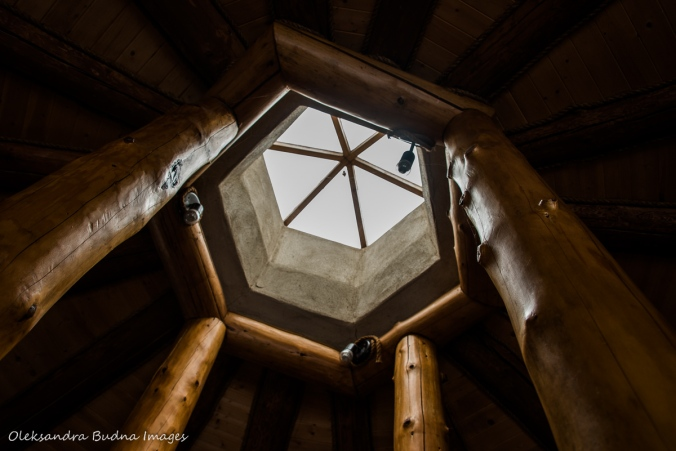 skylight in the Hobbit House at Les Toits du Monde