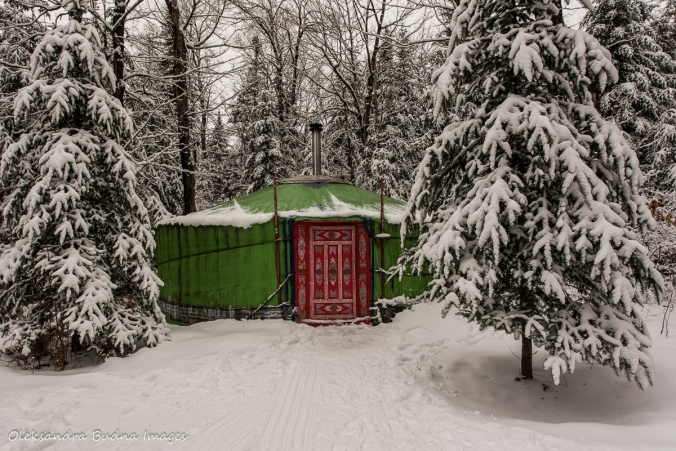 Mongolian yurt at Les Toits du Monde