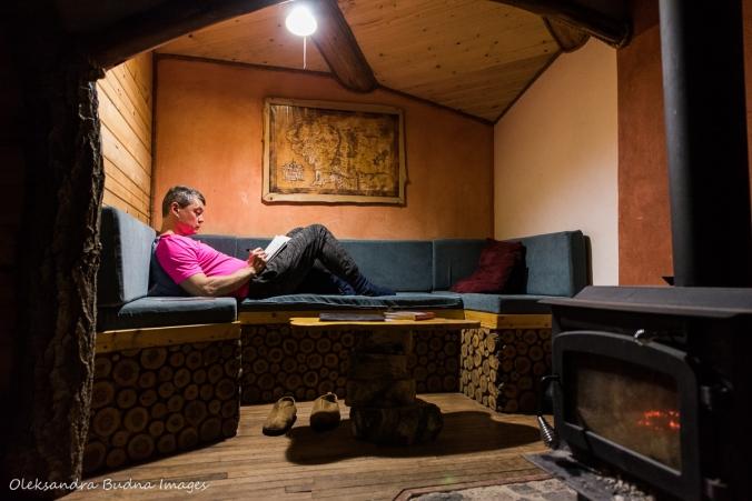 inside the Hobbit House at Les Toits du Monde