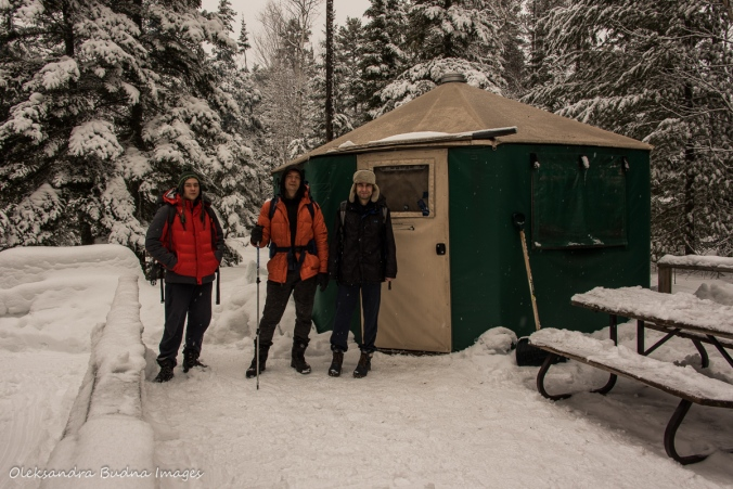 yurt at Windy Lake Provincial Park