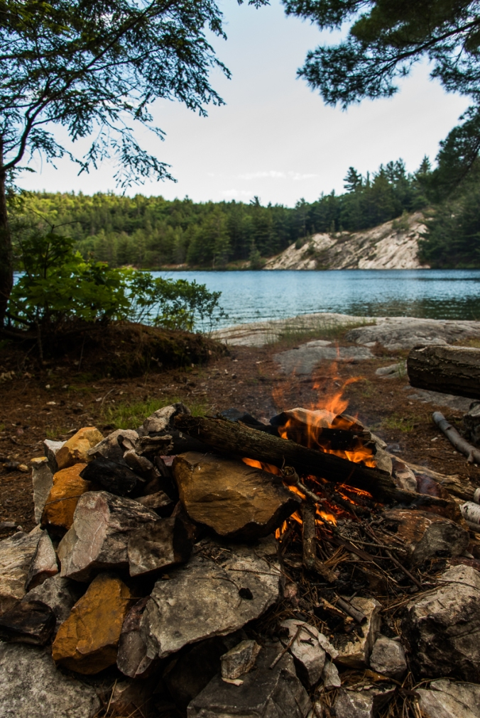 view from campsite 143 on Nellie Lake in Killarney