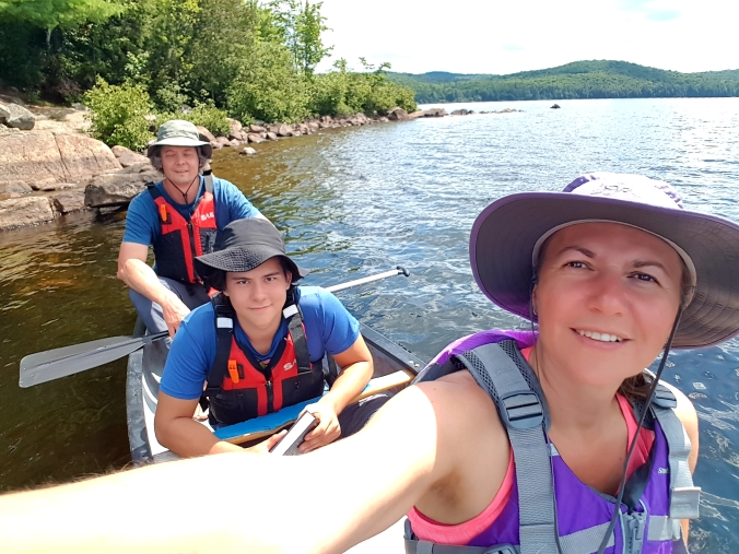 paddling on Manitou Lake in Algonquin