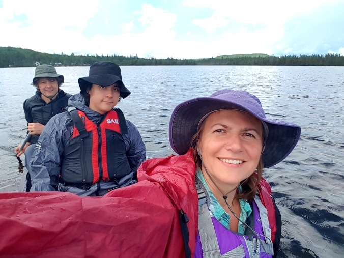 paddling on Kawawaymog Lake in Algonquin