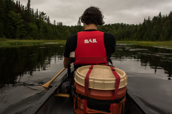 paddling on Amable du Fond river