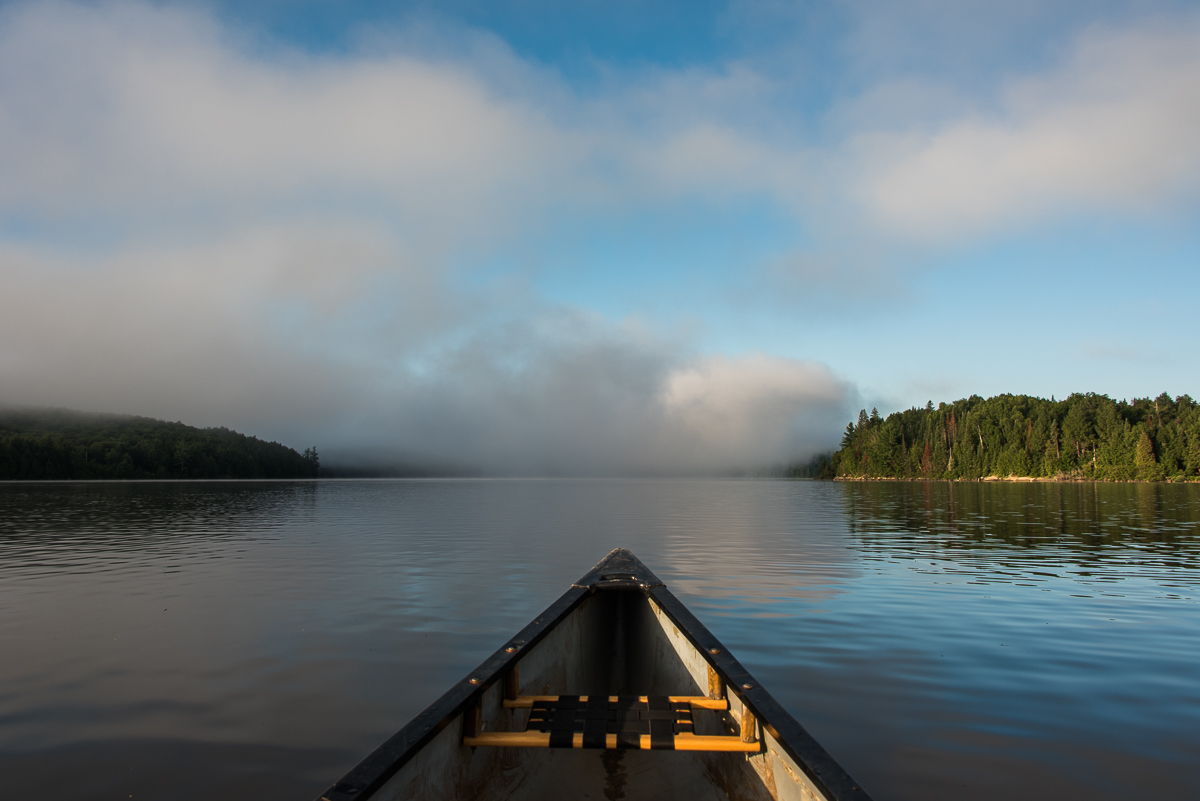 early morning on Manitou lake in Algonquin
