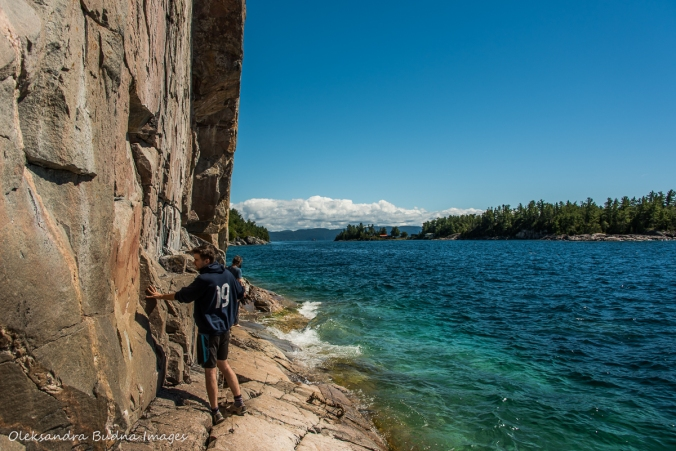 Agawa Rock on Lake Superior