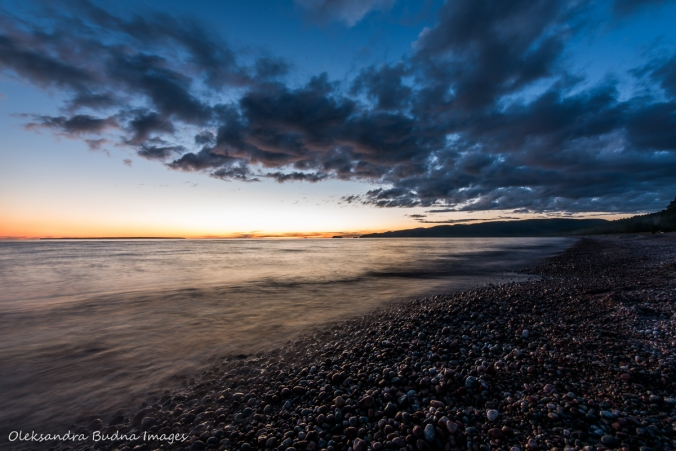 sunset on Agawa Bay on Lake Superior