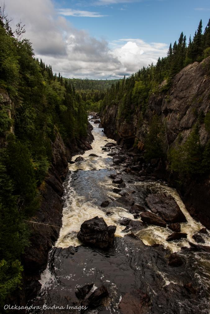 Chigaamiwinigum Falls at Pukaskwa