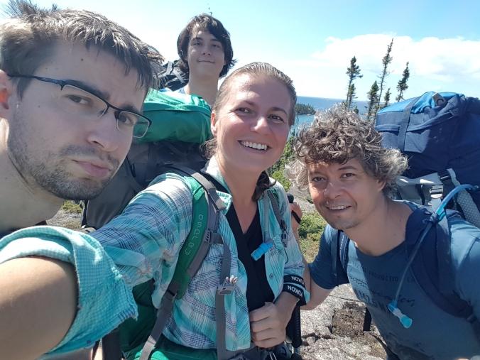 selfie while hiking Mdaabii Miikna Trail in Pukaskwa