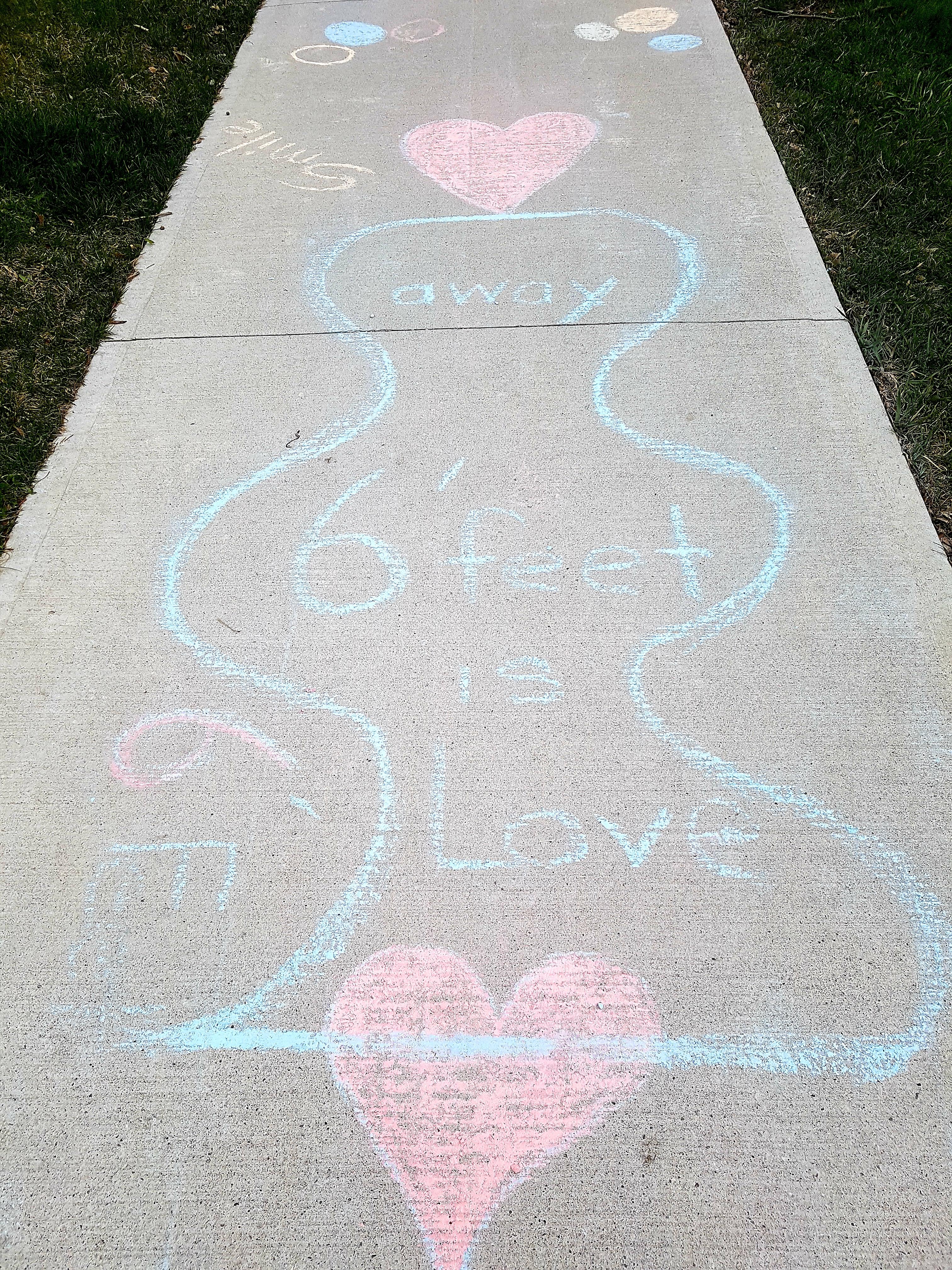 chalk drawing on the sidewalk