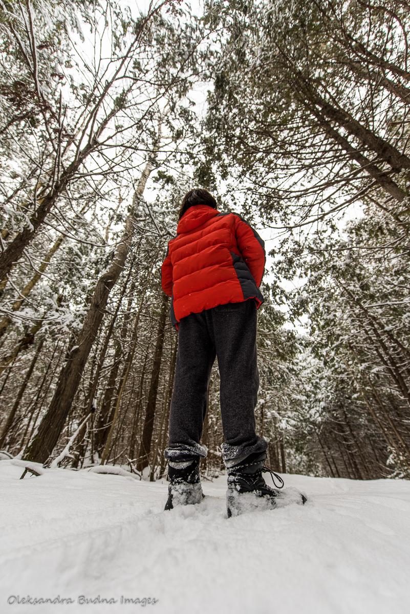 winter hiking at Boyne Valley